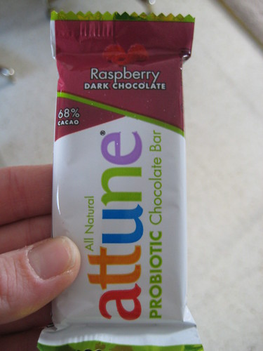attune probiotic chocolate bar raspberry chocolate