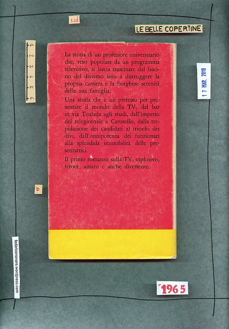 Franco Simongini, Il cialtrone. dell'Albero 1965. Quarta di sovracoperta
