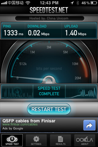 Speedtest China Internet