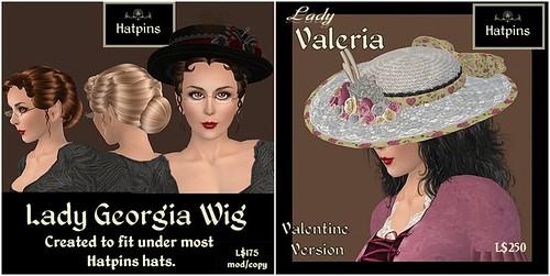 Hatpins Ladies Georgia and Valeria