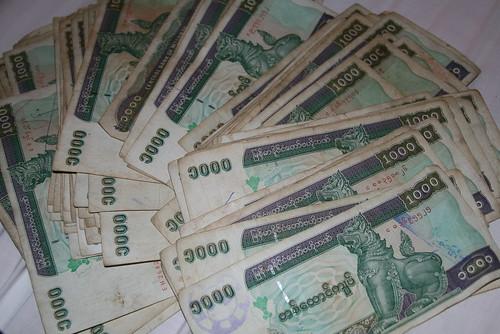 Billetes birmanos