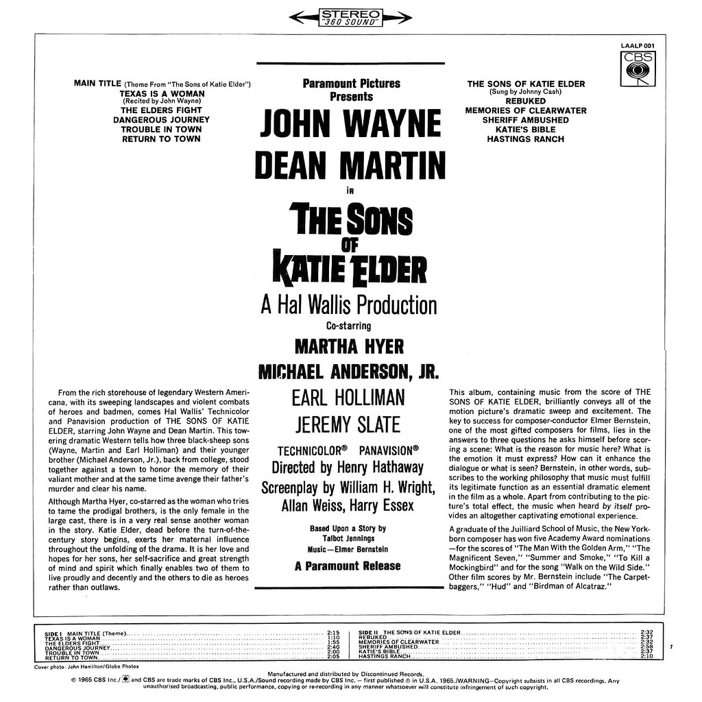 Elmer Bernstein - The Sons of Katie Elder