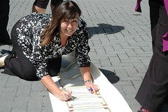 Carol Beaumont signs pay equity pledge