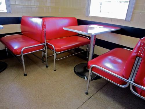 Tony's Ice Cream Red Booths