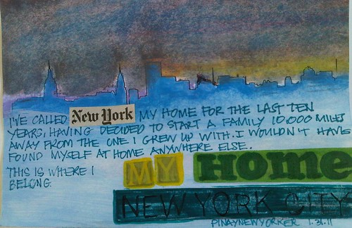 Art Journal Every Day No. 3: My Home: New York City