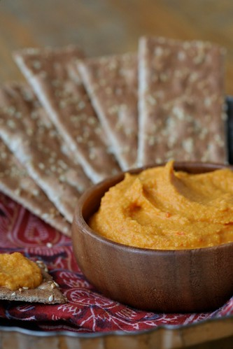 Carrot Hummus with Harissa 1