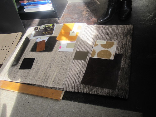 NB Design's proposed colors and fabrics: Lounge