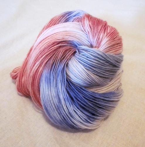 Sock yarn - Sun Orchid, Heath, Cloud Ears and Mist