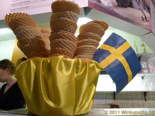 handmade Swedish waffle cones at Kula