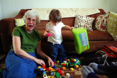 Duplos with grandma.