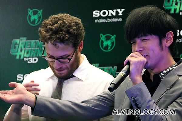 Jay Chou looking really happy