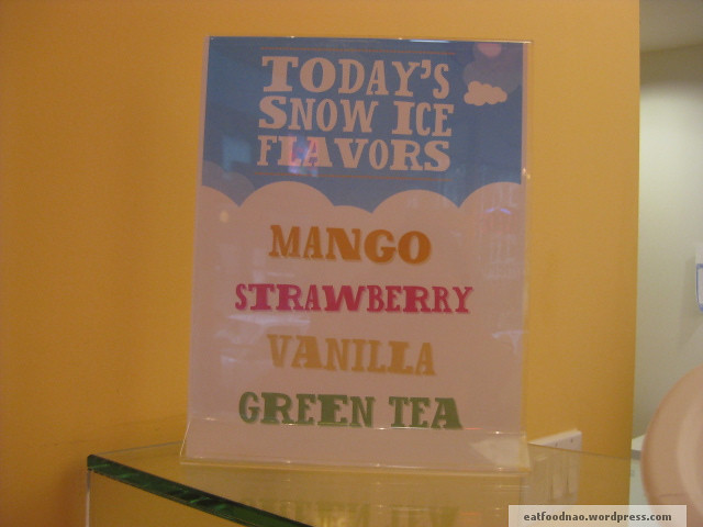 Snow Ice Flavors