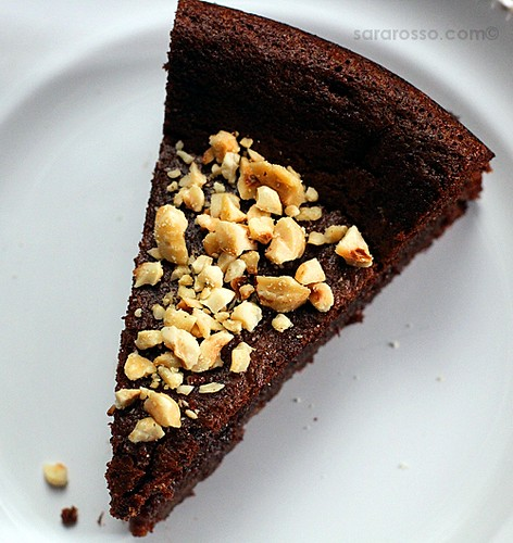 Flourless Nutella Chocolate Cake with Chopped Hazelnuts for World Nutella Day 2011