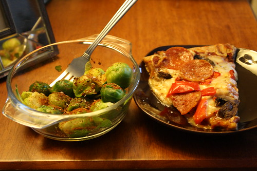 brussell sprouts, pizza