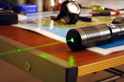 High Power Green Laser, Light Background