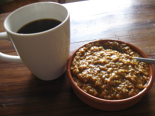Morning coffee w/ pumpkin oats