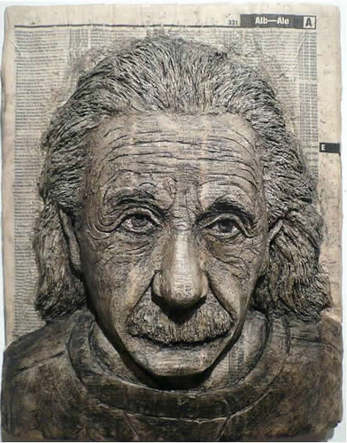 Alex Queral Book Carvings 2a Albert Einstein