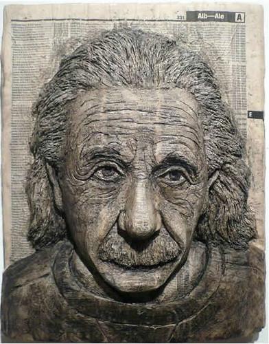 Alex Queral Book Carvings 2a Albert Einstein