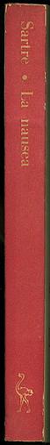 Jean Paul Sartre, La nausea. Einaudi 1948. Dorso