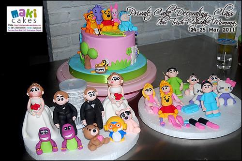 Kursus Birthday Cake- Ibu Trish Cupcake Momma_____ - at Maki Cakes