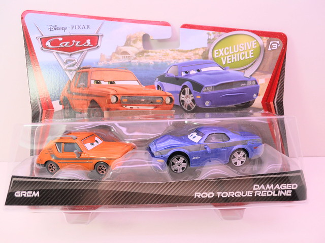 disney cars 2 movie doubles damaged rod torque redline grem 1 (1)