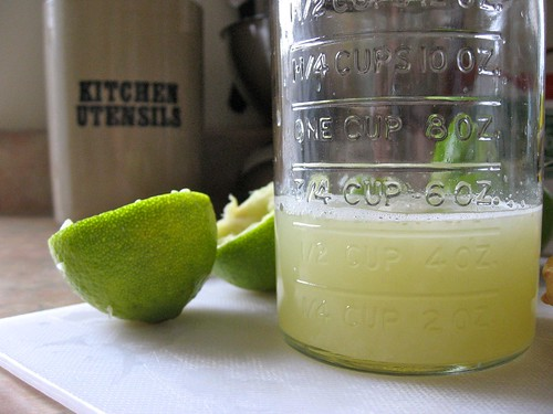 Lime Juice in Vintage Jar