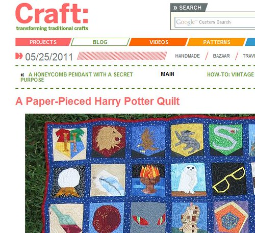 My HP Quilt on Craft