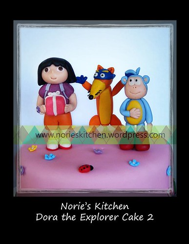 Norie's Kitchen - Dora the Explorer 2 - Cake toppers