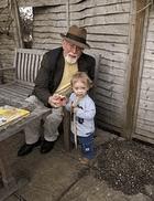 Roger Whittaker and grandchild © Natalie Whittaker