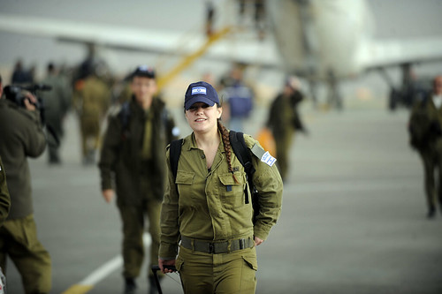 IDF Delegation Lands in Nevatim Air Force Base