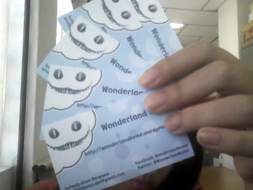 Cartão de Visitas do WonderlandByMe