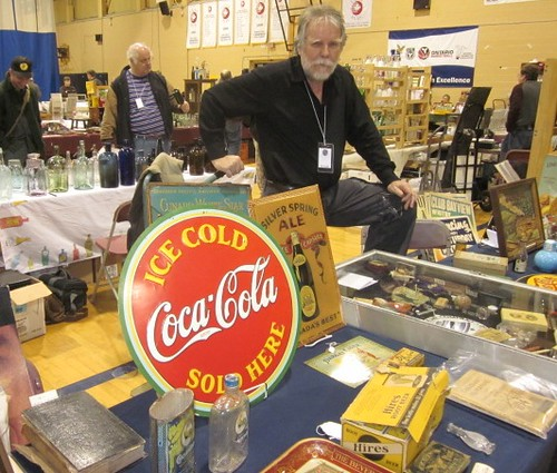 metal signs at the 2011 Toronto Bottle Show, Ed Locke