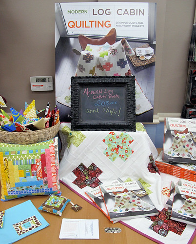 Modern Log Cabin Quilting Display at Bobbin's Nest Studio