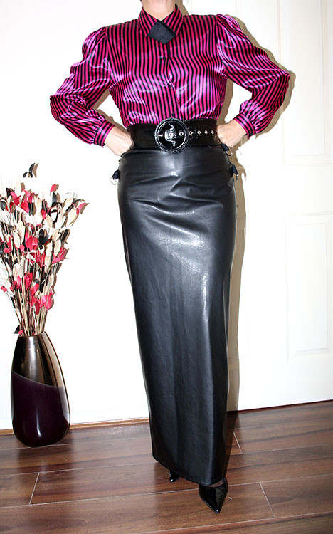 Mistress Leather Mini Skirt