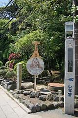 江の島めぐり―琵琶型の案内標識(Signboard alike lute, Enoshima, 2011)