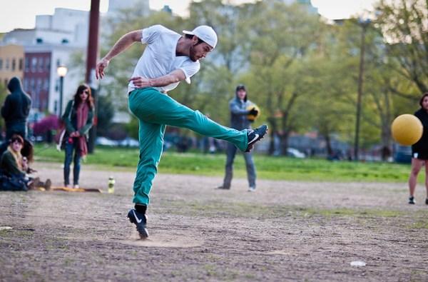121/365 - Hipster Kickball, McCarren Park.