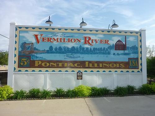 IL, Pontiac 28 - Vermillion River billboard