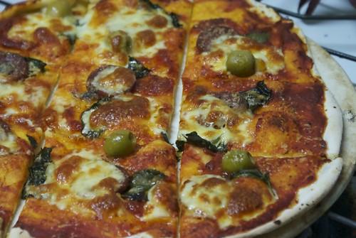 Pepperoni pizza a la David