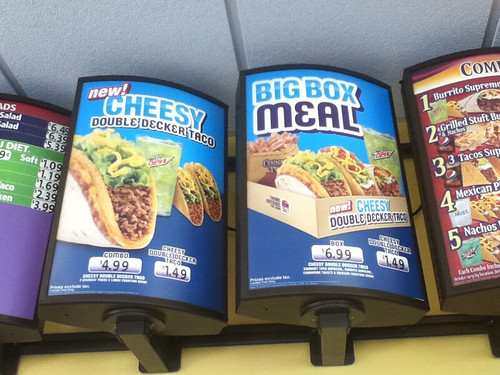 Taco Bell Cheesy Double Decker Taco Display