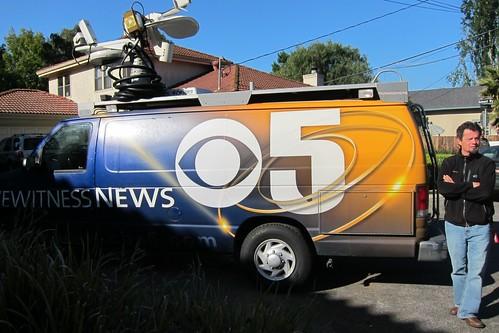 CBS News truck