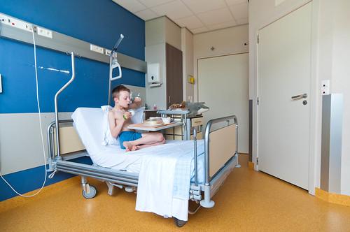 Louis in het hospitaal, dag 7