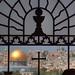 """Die Kirche """"Dominus flevit"""" ist genau auf die Grabeskirche ausgerichtet"""