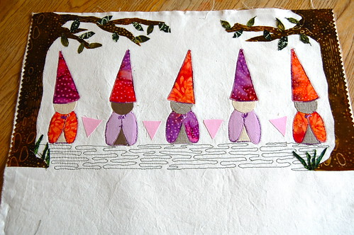 gnomes in the forest- WIP by blooming poppies