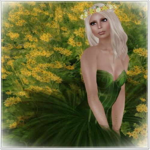 Hatpins Rhosyn Wreath in Citrus Sunshine