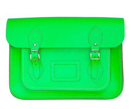 Cambridge Satchel fluorescent green