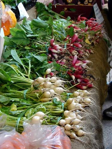 wee radishes, tiny turnips