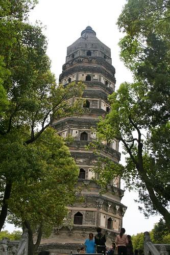 Leaning pagoda at Tiger Hill