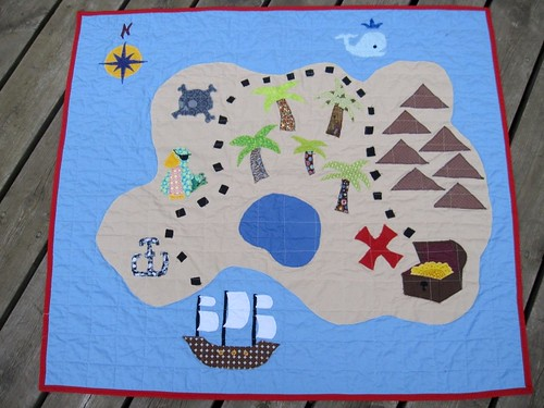 Treasure Map Play Quilt (1/6)