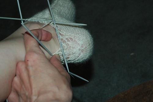 Lace Stockings - heel detail