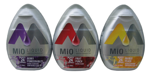 MiO Liquid Water Enhancer (Berry Pomegranate, Fruit Punch & Mango Peach)